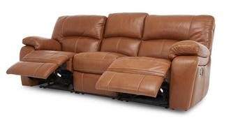 Reward leder en lederlook 3-zitter handbediende recliner
