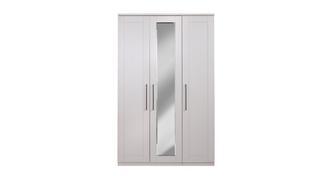 Rhode 3 Door Centre Mirror Wardrobe