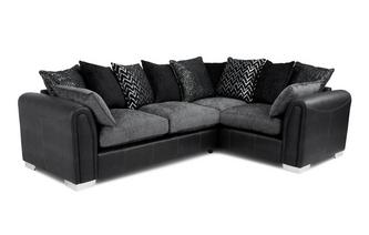 Pillow Back Left Hand Facing 3 Seater Supreme Corner Sofa Bed