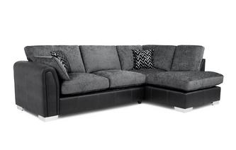 Formal Back Left Hand Facing 3 Seater Open End Corner Sofa