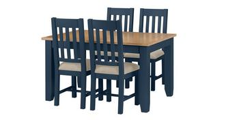 Rhone Medium Extending Table & 4 Chairs