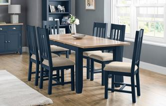 Rhone Small Extending Table & 4 Chairs Rhone