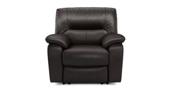 Rhythm Leather and Leather Look Manual Recliner Chair