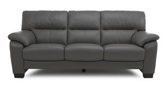 Rhythm Leather and Leather Look 3 Seater Sofa