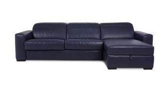 Rienzo 3-zitsbank met chaise longue rechts en opbergruimte
