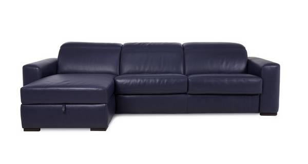 Rienzo 3-zitsbank met linkszijdig chaise longue met opbergruimte