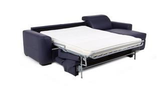 Rienzo Right Hand Facing 3 Seater Storage Chaise Sofa Bed