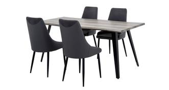 Rioja Fixed Dining Table & Set of 4 Chairs