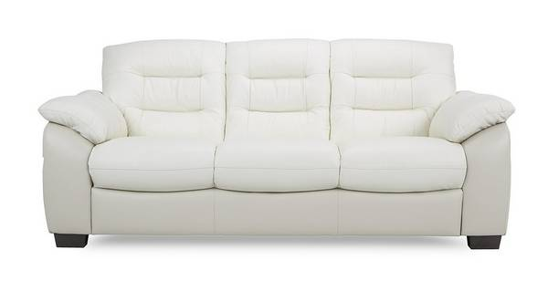Ripple Leather and Leather Look 3 Seater Sofa