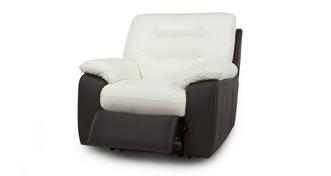 Ripple leder en lederlook Elektrische recliner fauteuil