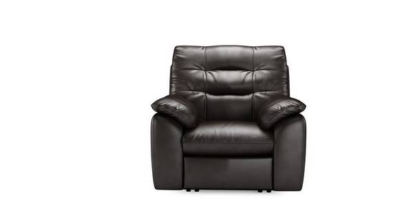 Ripple leder en lederlook Handbediende recliner stoel
