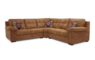 3 Piece Corner Sofa Saddle