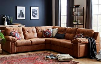 Romana 3 Piece Corner Sofa Saddle