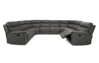 Option N Manual 8 Piece U Shape Corner Sofa