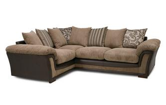 Pillow Back Right Hand Facing 2 Seater Corner Sofa Inception