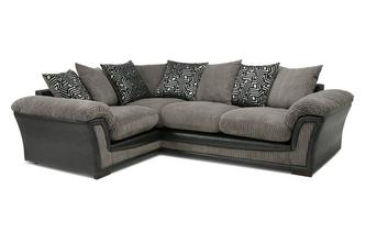 Pillow Back Right Hand Facing 2 Seater Corner Sofa Roxy