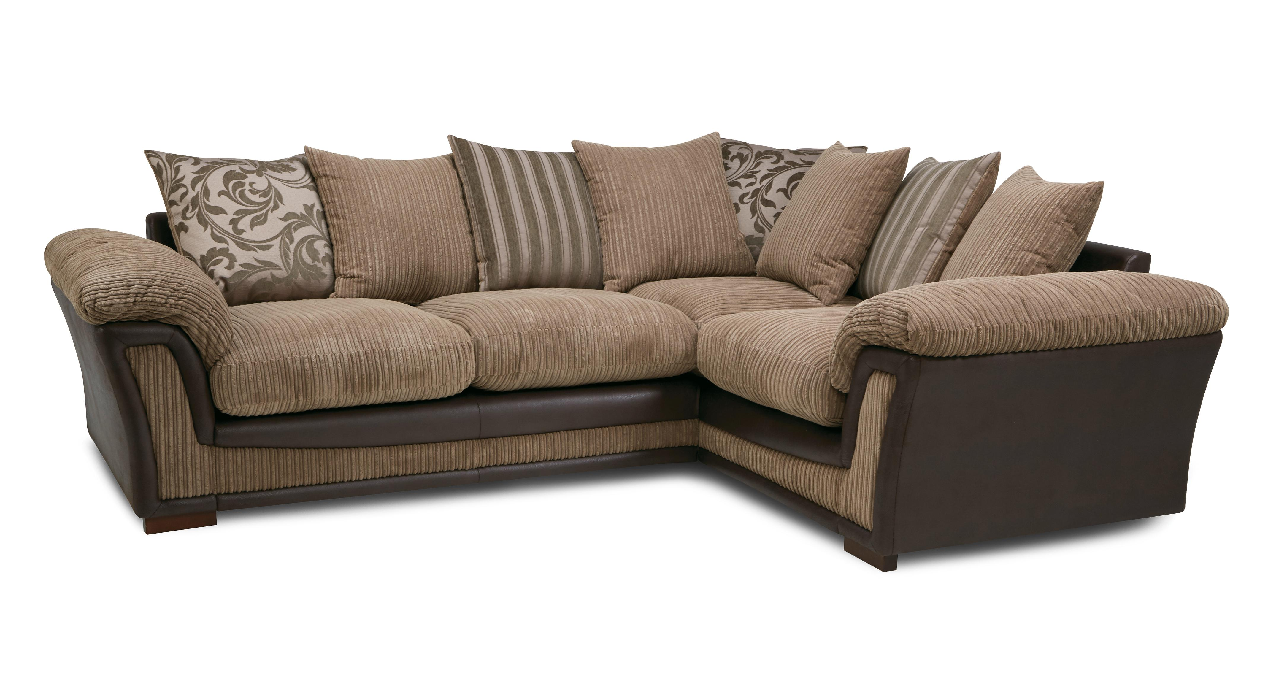 Ronnie: Pillow Back Left Hand Facing Deluxe Corner Sofa Bed