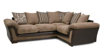Ronnie Pillow Back Left Hand Facing Deluxe Corner Sofa Bed