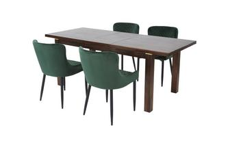 Extending Dining Table & 4 Ursula Chairs