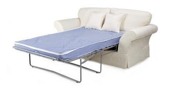 Rosa 2-zits deluxe slaapbankmet vaste rugkussens
