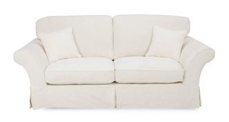 Rosa 3-zits deluxe slaapbank met vaste rugkussens