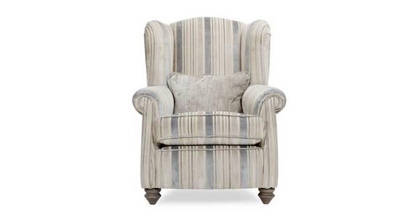 Rosetti Stripe Wing Chair
