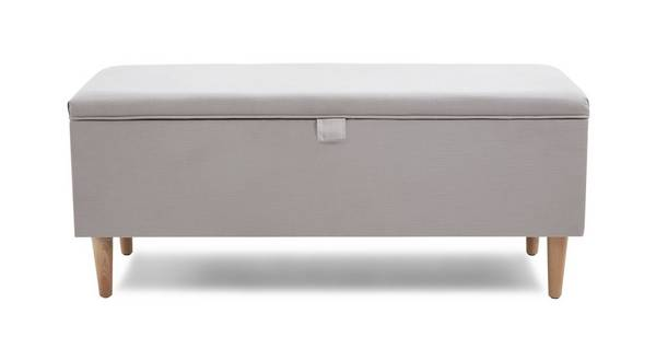 Rosy Storage Ottoman with Legs