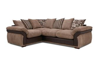 Pillow Back Right Hand Facing 2 Seater Corner Deluxe Sofa Bed