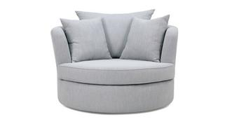 Rumi Large Swivel Chair with Plain Scatters