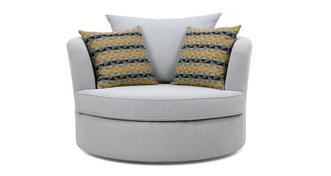 Rumi Large Swivel Chair with Pattern Scatters