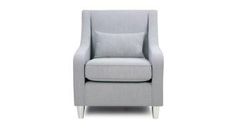Rumi Accent Chair with Pattern Bolster
