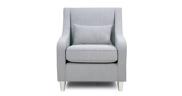 Rumi Accent Chair with Plain Bolster