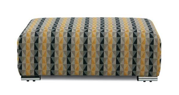 Rumi Pattern Banquette Footstool
