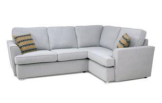 Left Hand Facing 2 Seater Corner Sofa Minky