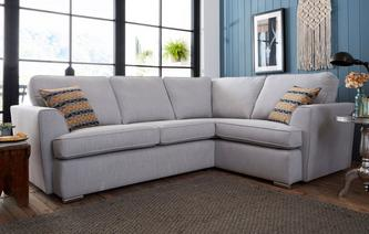 Rumi Left Hand Facing 2 Seater Corner Sofa Minky