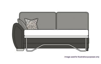 Formal Back Left Hand Facing Arm 3 Seater Deluxe Sofa Bed
