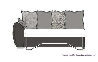 Pillow Back Left Hand Facing Arm 3 Seater Deluxe Sofa Bed
