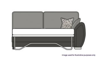 Formal Back Right Hand Facing 3 Seater Deluxe Sofa Bed