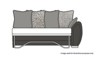 Pillow Back Right Hand Facing 3 Seater Deluxe Sofa Bed