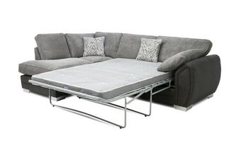 Formal Back Right Hand Facing 3 Seater Open End Deluxe Corner Sofa
