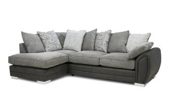 Pillow Back Right Hand Facing 3 Seater Open End Supreme Corner Sofabed
