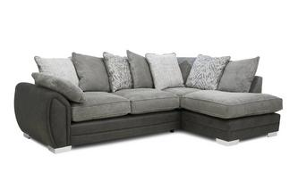 Pillow Back Left Hand Facing 3 Seater Open End Supreme Corner Sofabed