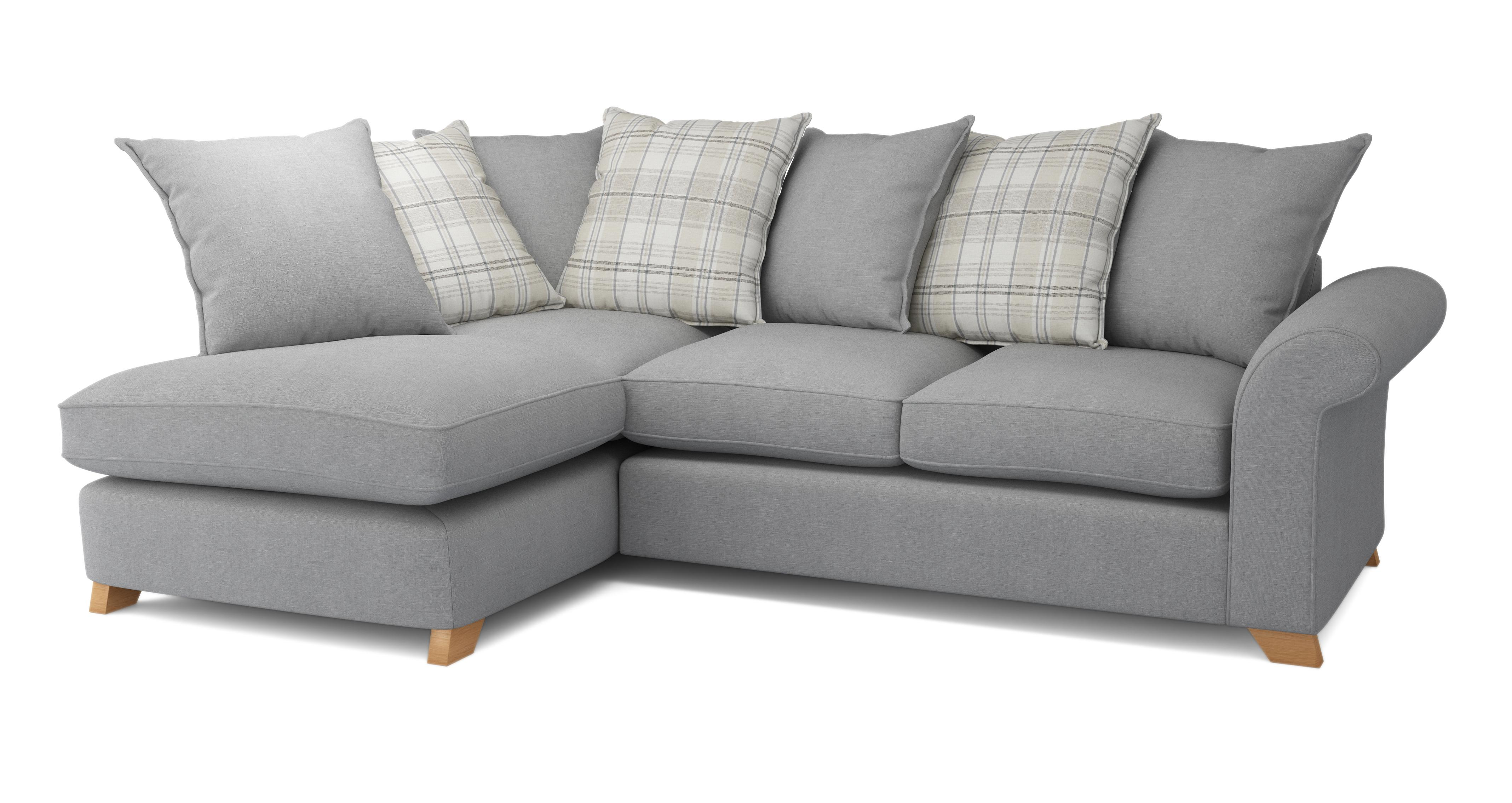 rupert right arm facing pillow back corner sofa dfs - Corner Sofa