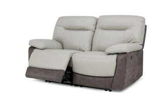 2 Seater Manual Recliner Bacio Vellutato