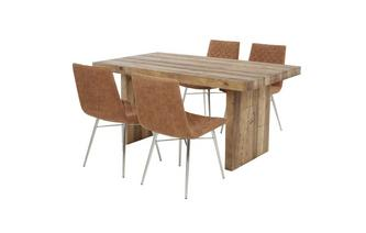 Small Fixed Top Table & Set of 4 Quilted Chairs Sakura