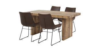 Sakura Small Fixed Top Table & Set of 4 Scoop Chairs