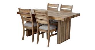 Sakura Small Fixed Top Table & Set of 4 Plain Seat Chairs