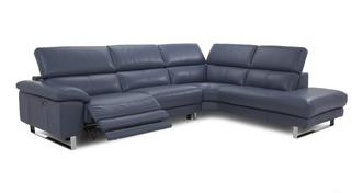 Salone Option C Left Arm Facing Single Electric Recliner Corner Sofa
