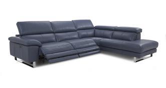 Salone Optie E  Linkszijdige tweeling elektrische recliner hoekbank