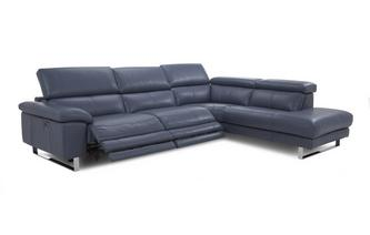 Option E Left Arm Facing Twin Electric Recliner Corner Sofa